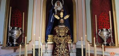 Jesús del Rescate de Málaga, retirado del culto para su restauración a cargo de Gutiérrez Carrasquilla