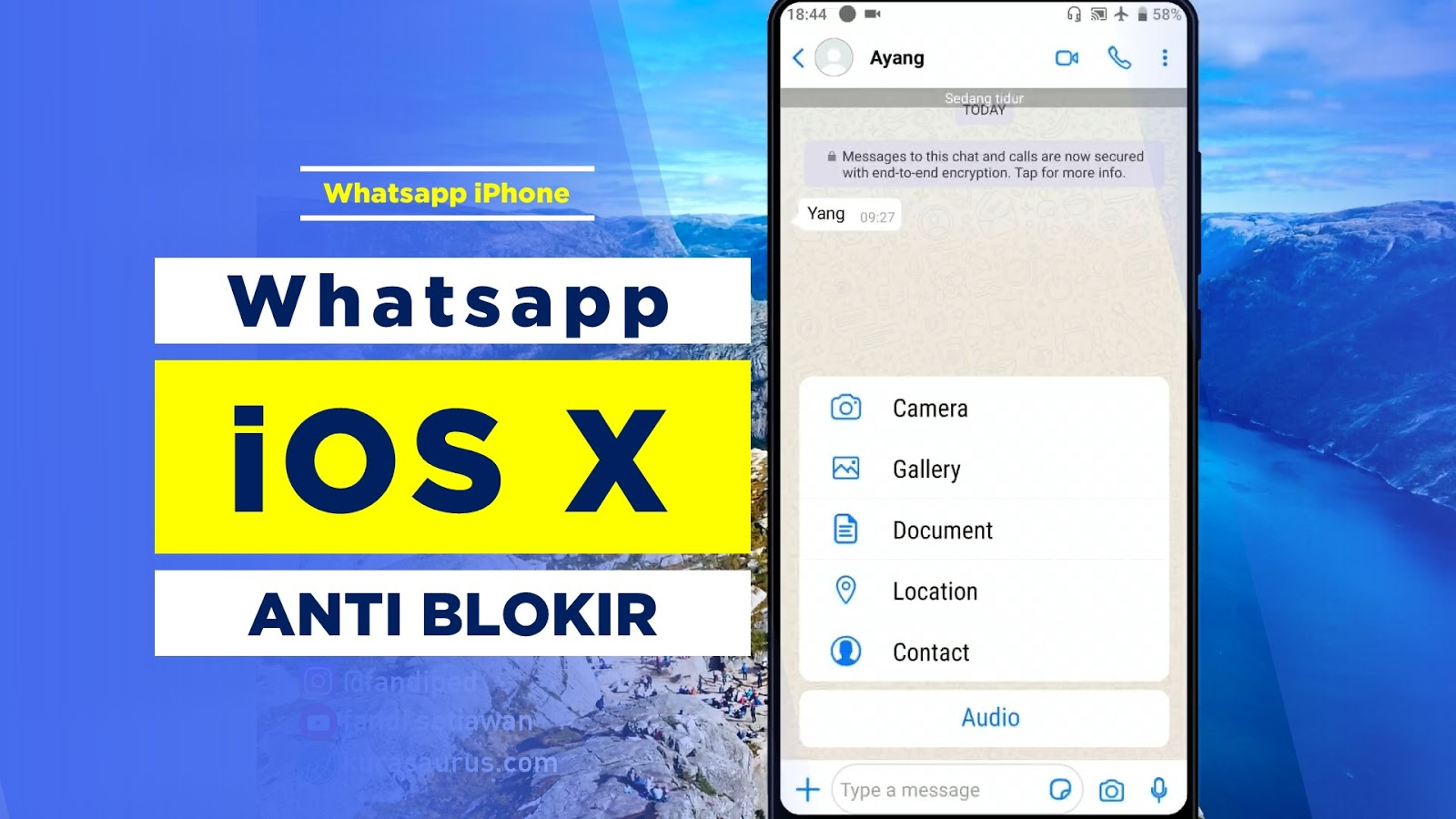 Whatsapp iOS / iPhone Anti Blokir TERBARU !!! GB iOS X V8 ...