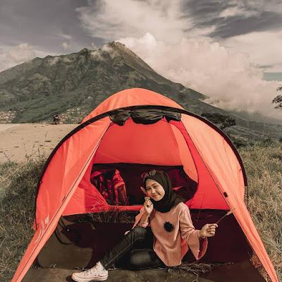 Camping di embung Manajar Selo Boyolali