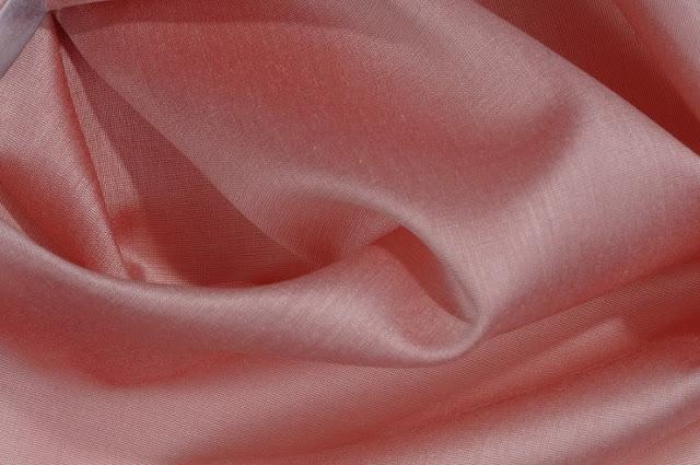 Coral Almond Cotton Silk Fabric