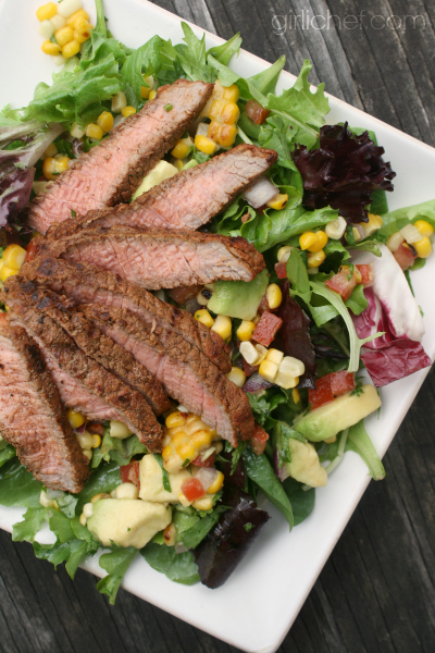 Grilled Steak Salad with Corn Salsa