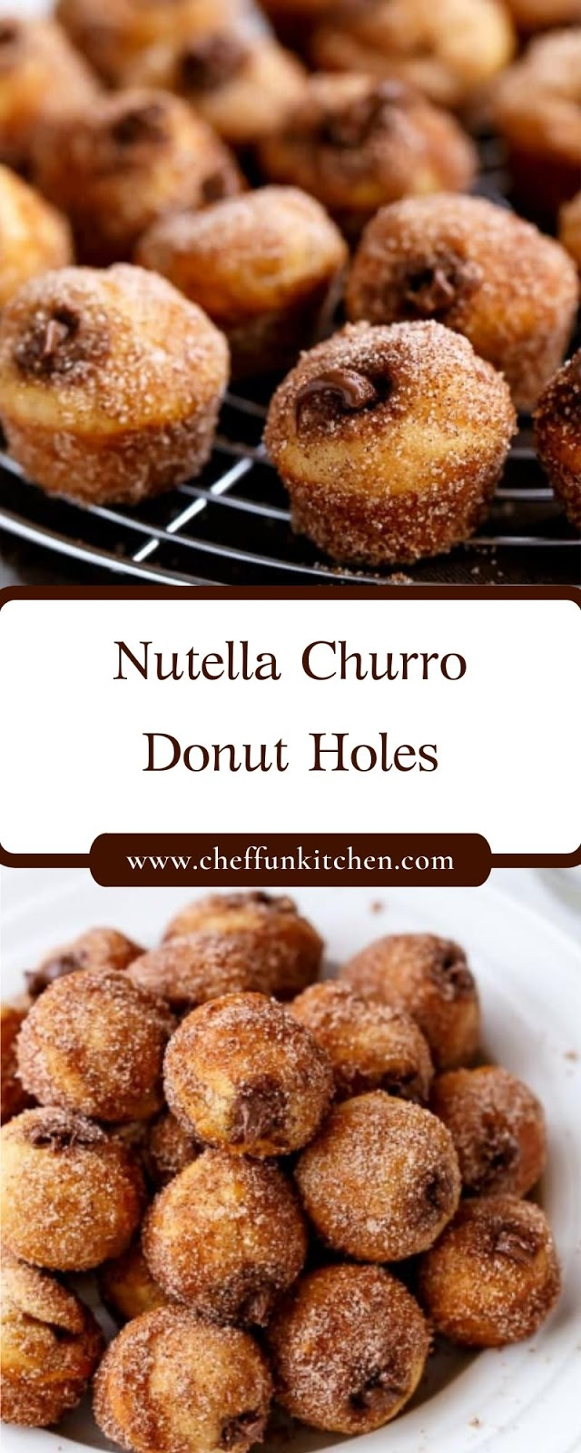 Nutella Churro Donut Holes