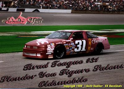 Brad Teague #31 Slender You Racing Champions 1/64 NASCAR diecast blog Bob Clark Winston Cup 1988 1987