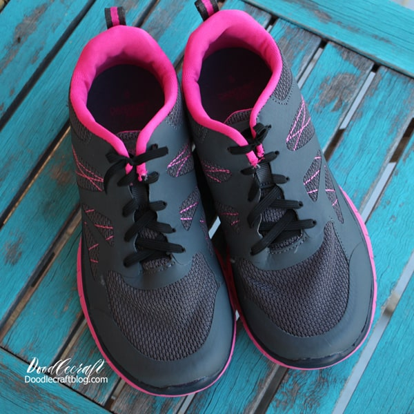 Use elastics tied in shoes instead of shoe laces and never tie your shoes again