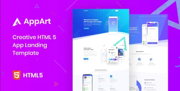 Best Creative HTML Template For Apps