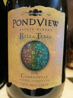 PondView Bella Terra Chardonnay 2013 - Barrel Fermented, VQA Four Mile Creek, Niagara Peninsula, Ontario, Canada (88 pts)