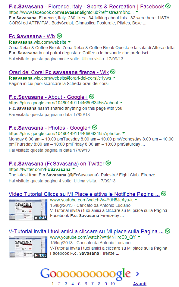 fight club savasana firenze web solution