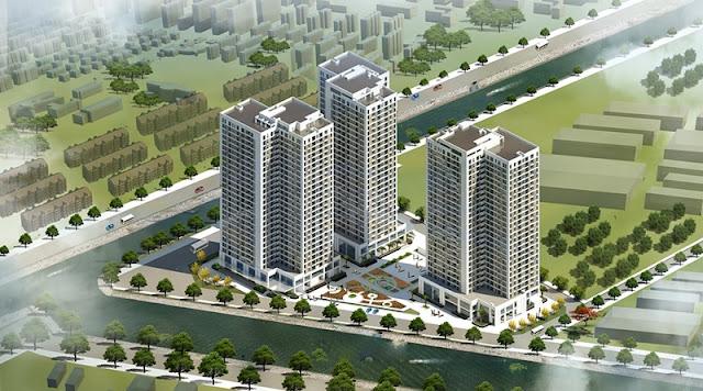 View dự án X2 Đại Kim hướng về 2 mặt hồ lớn là sông Tô Lịch và hồ Linh Đàm