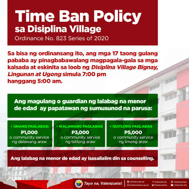 time ban policy sa disiplina village