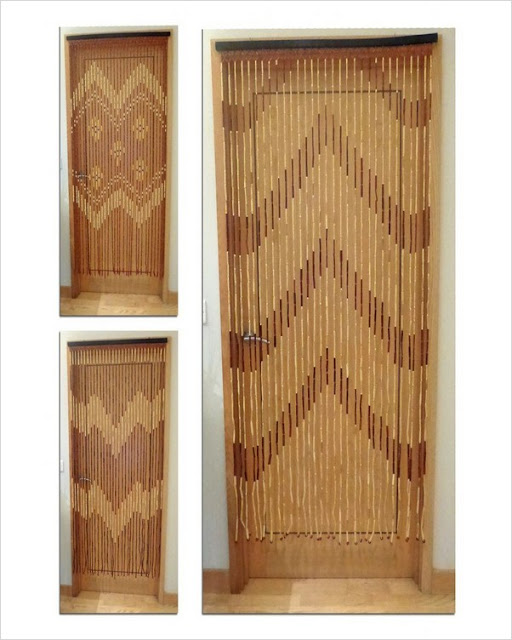 wooden beaded curtains for doorways cheap