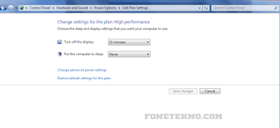 Cara Agar PC Tidak Sleep Otomatis di Windows 7