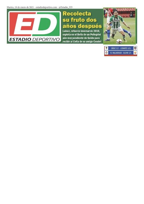"""Betis, Estadio Deportivo: """"Recolecta su fruto dos años después"""""""