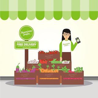 Tips Membeli Sayur Organik Melalui Media Komunikasi