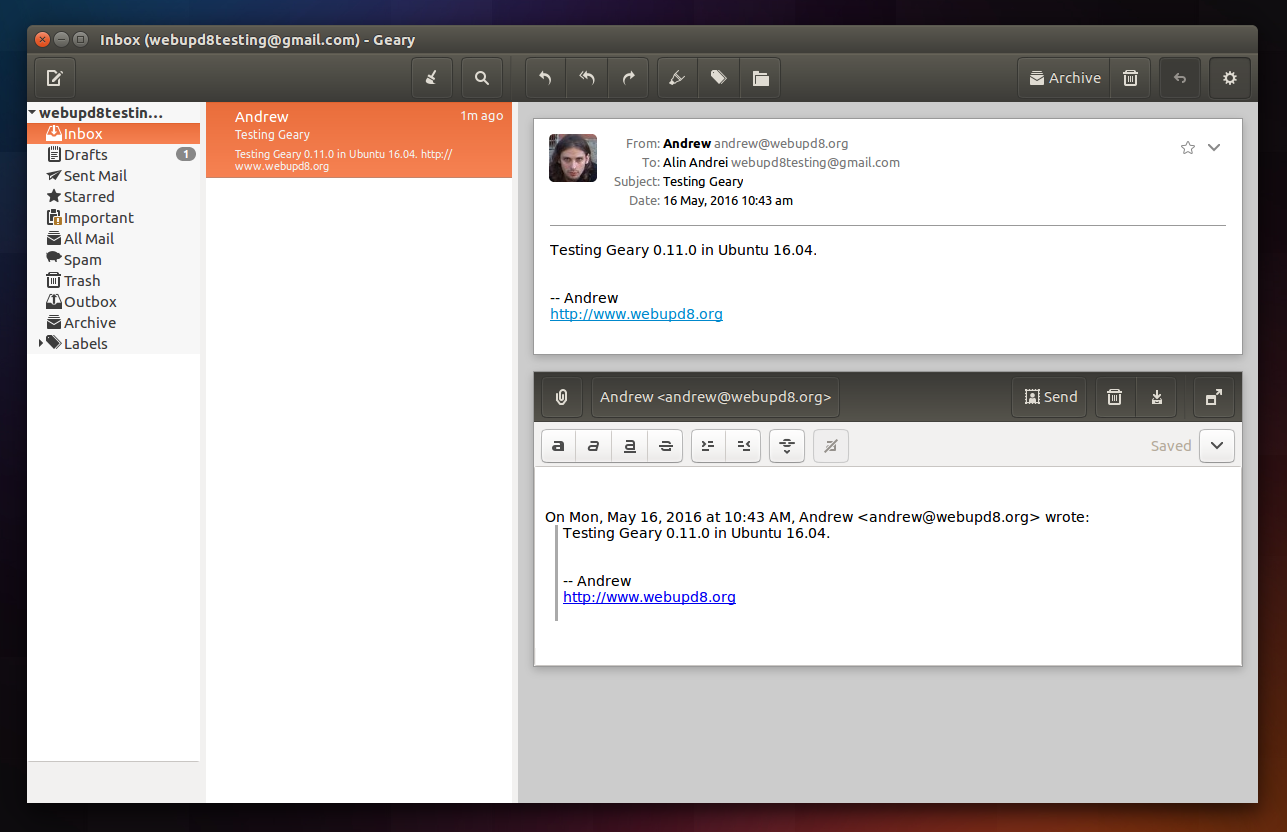 New Version Of Linux Email Client `Geary` Released [PPA] ~ Web Upd8