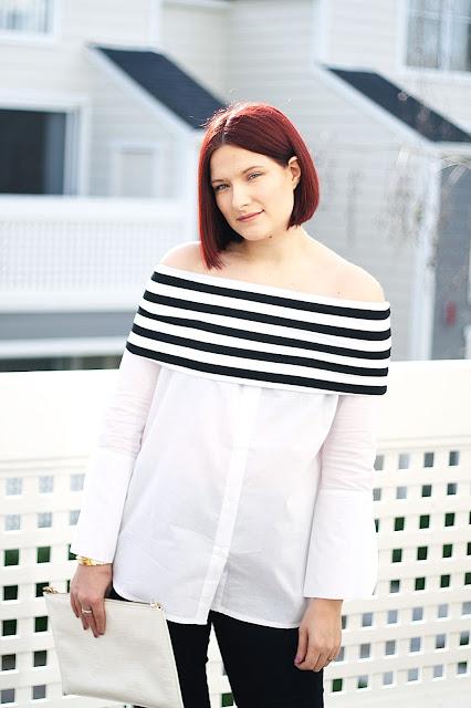 Shein, affordable fashion, womenswear, trend, off-shoulder, shirt, blogger