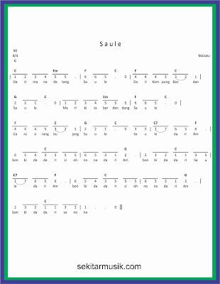not angka saule lagu daerah maluku