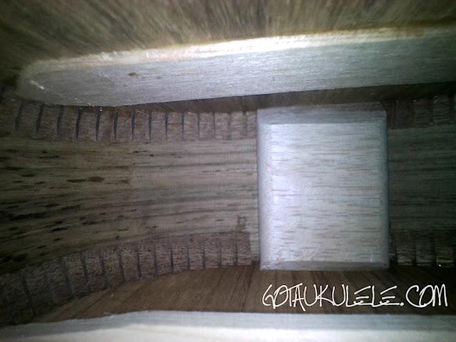 Cort UKE-BWS Soprano Ukulele inside