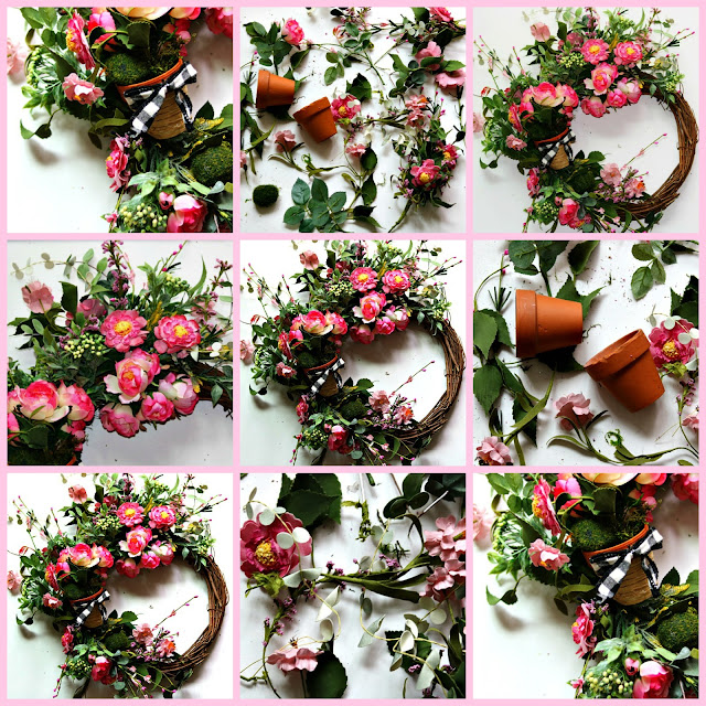 wreath, country, cottage, farmhouse, easy, spring, floral, athomewithjemma.com