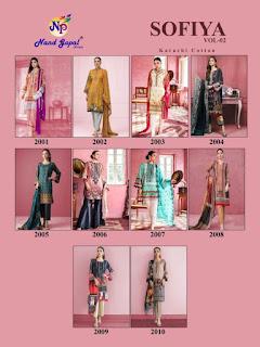 Nandgopal Sofiya vol 2 Pakistani dress material
