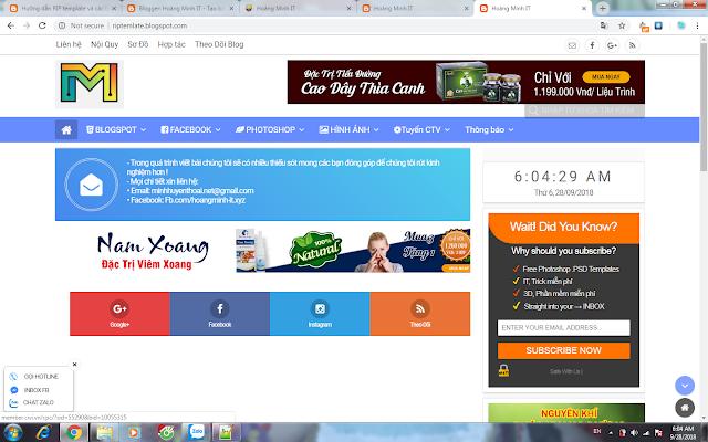Share Template Hoàng Minh IT V3.0