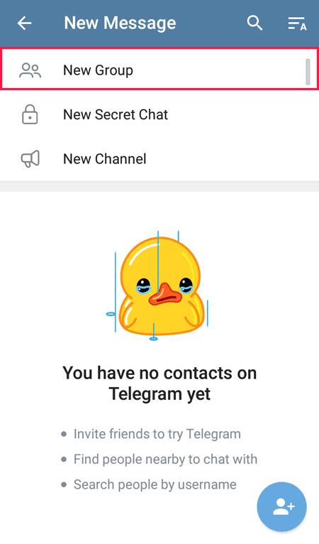 new group telegram