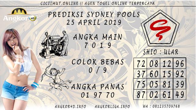 Prediksi Angka Jitu SYDNEY POOLS 25 APRIL 2019