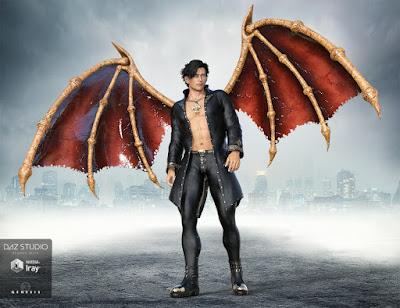 Universal Demon Wings for Genesis 3 Male and Genesis 3 Female
