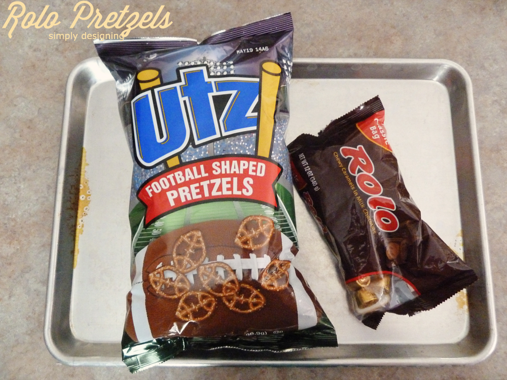 Rolo Pretzels: Game Day Style   #recipe #football #gameday #chocolate