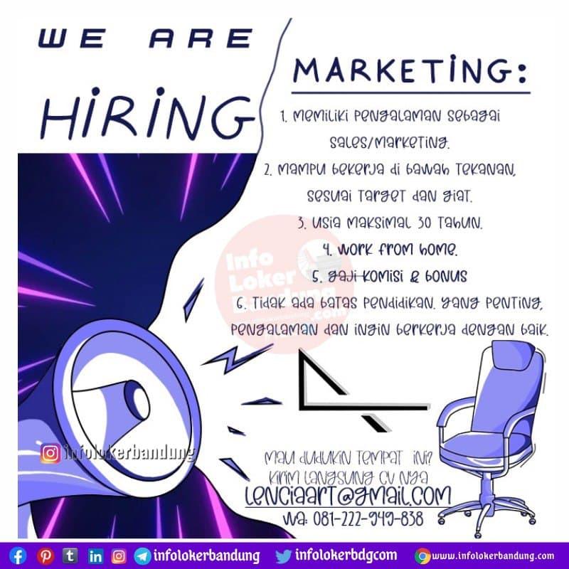 Lowongan Kerja Marketing Lencia Art Bandung Maret 2021