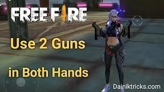 Free Fire में एक साथ 2 Victor Gun कैसे Use करे ?