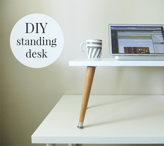 Do It Yourself Home Design: How To Make A DIY Standing Desk Add-On