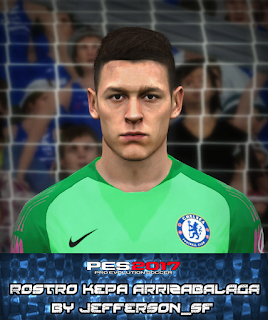PES 2017 Faces Kepa Arrizabalaga by FaceEditor Jefferson_SF