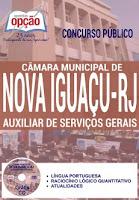 Apostila concurso público Câmara de Vereadores de Nova Iguaçu Auxiliar de Serviços Gerais