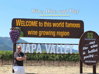 The sign for tourists to stop and take their picture to the entrance into the Napa Wine Country in Napa, California
