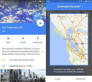 طريقة تنزيل خرائط غوغل Google Maps لاستخدامها بدون اتصال