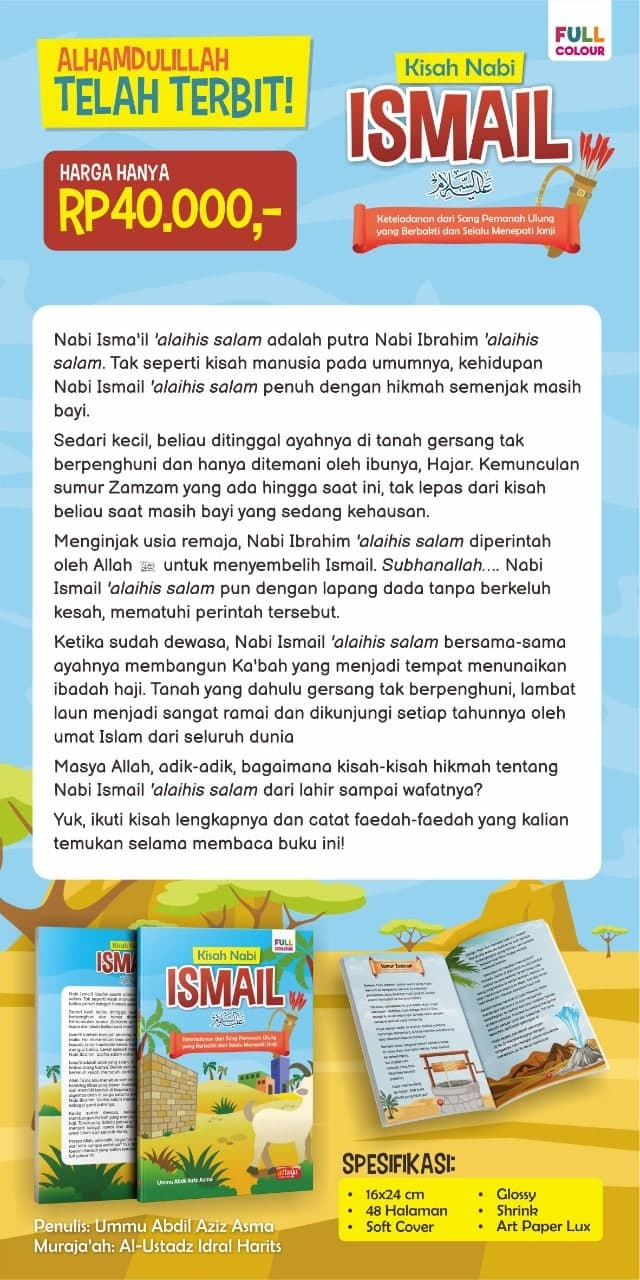Buku Kisah Nabi Ismail Full Color Attuqa
