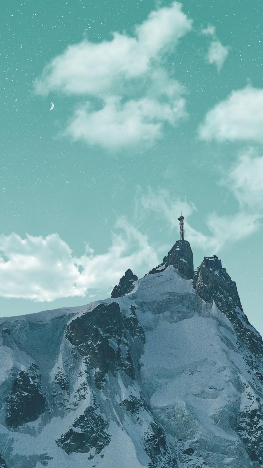 mountain snow tower
