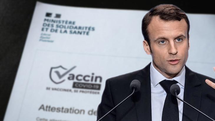 Photo de Macron fausse attestation covid