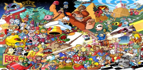 desktop graphic video game mascots Nintendo characters