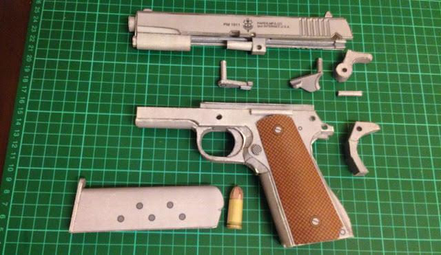 paper craft gun