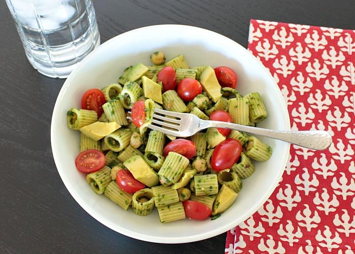 spinach cilantro pesto pasta