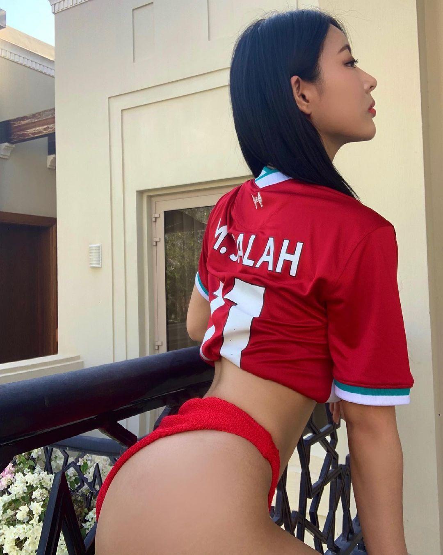 리버풀 유니폼 입은 정유나 - 꾸르