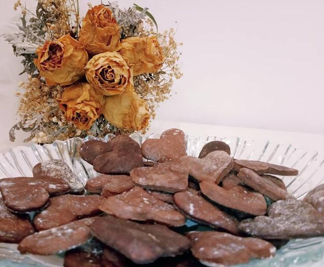 Bolachas de chocolate São Valentim