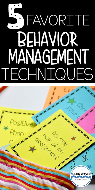 Looking for simple and effective ways to positively manage students' behavior in your classroom?  Then, you'll love this set of my 5 favorite behavior management techniques!