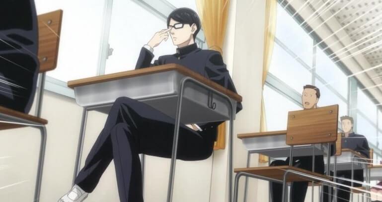 Sakamoto air sitting in class