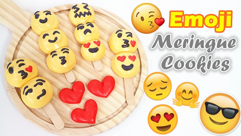 Emoji Meringue Cookies 表情蛋白餅