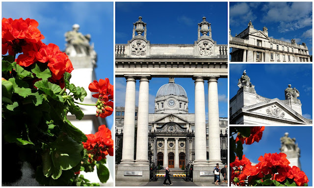 image collage of a government building in Dublin