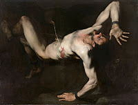 Tityus by baroque painter Jusepe de Ribera, a follower of Caravaggio Merisi, circa 1632