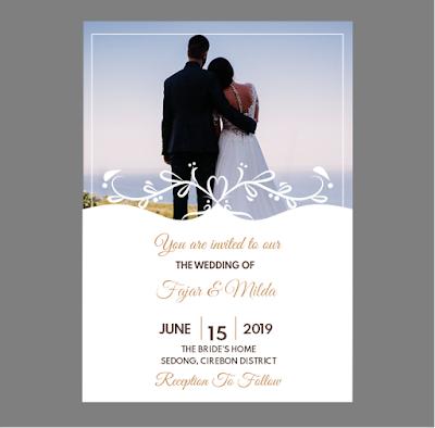 contoh undangan pernikahan dalam bahasa inggris beserta strukturnya