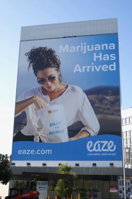 Giant Marijuana has arrived Eaze billboard